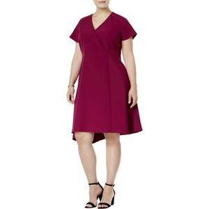 Anne Klein Asymmetrical-Hem Fit & Flare Dress